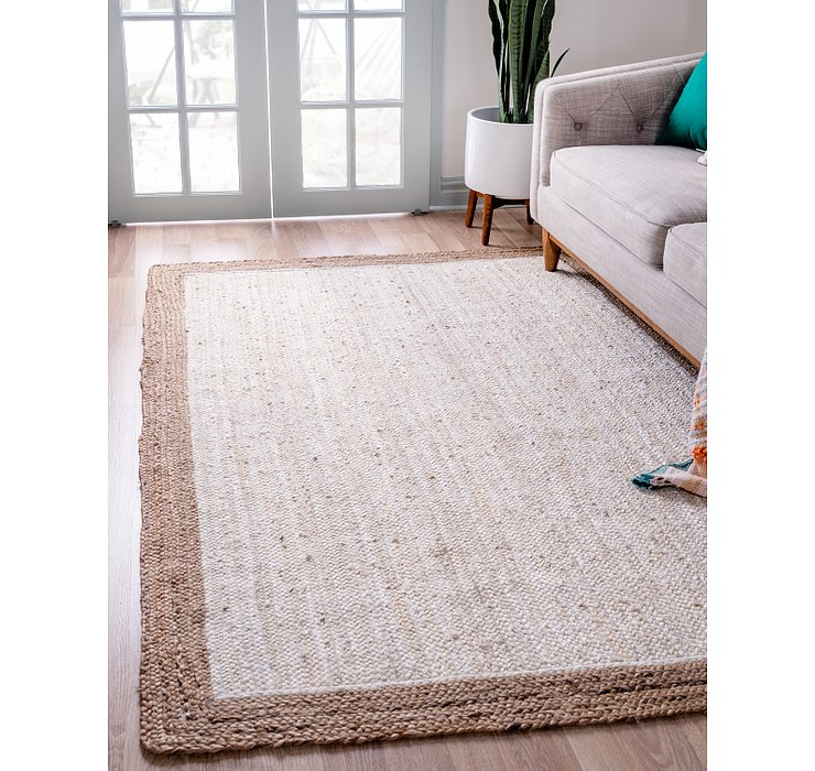 White Braided Jute Rug