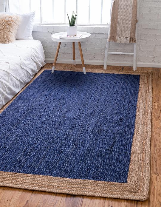 Navy Blue 152cm X 245cm Braided Jute Rug Area Rugs Au Rugs