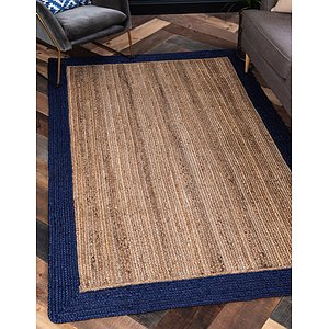 Unique Loom 5' x 8' Braided Jute Rug