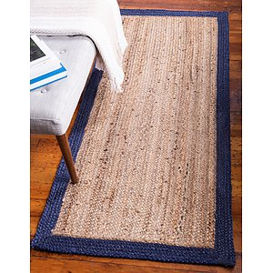Unique Loom 2' 6 x 6' Braided Jute Runner Rug