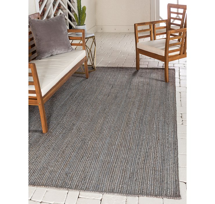 Gray Braided Jute Rug