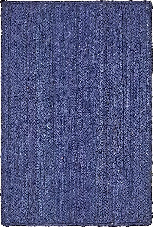 Navy Blue 2 X 3 Braided Jute Rug Area Rugs Esalerugs
