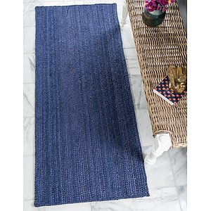 Unique Loom 2' 6 x 6' Braided Jute Runner Rug