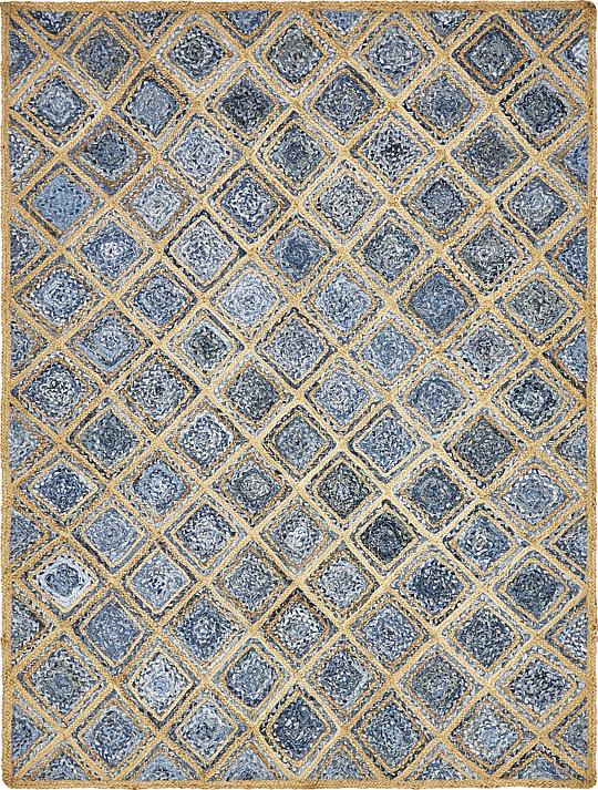 blue 8 39 x 10 39 braided jute rug area rugs irugs uk. Black Bedroom Furniture Sets. Home Design Ideas