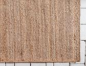 Unique Loom 6' 3 x 9' 2 Braided Jute Rug thumbnail image 8