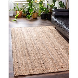 Unique Loom 3' 3 x 5' Braided Jute Rug