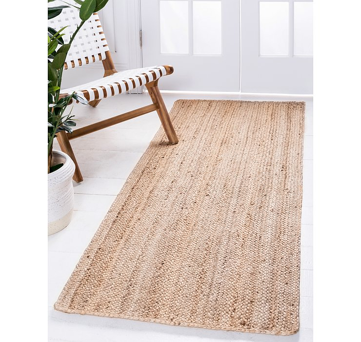 2' 6 x 6' Braided Jute Runner Rug