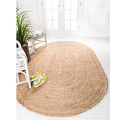 Link to Unique Loom 8' x 10' Braided Jute Oval Rug