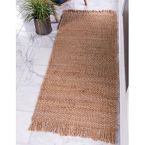 Unique Loom 2' 6 x 6' Chunky Jute Runner Rug