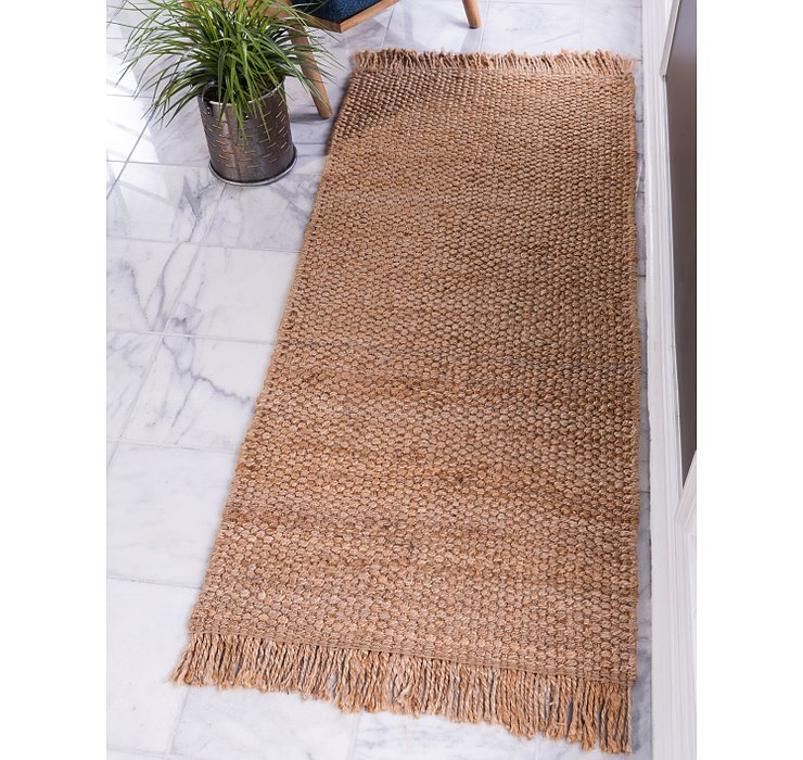Natural Chunky Jute Runner Rug