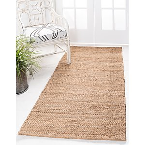 Unique Loom 2' 6 x 6' Chunky Jute Runner Rug