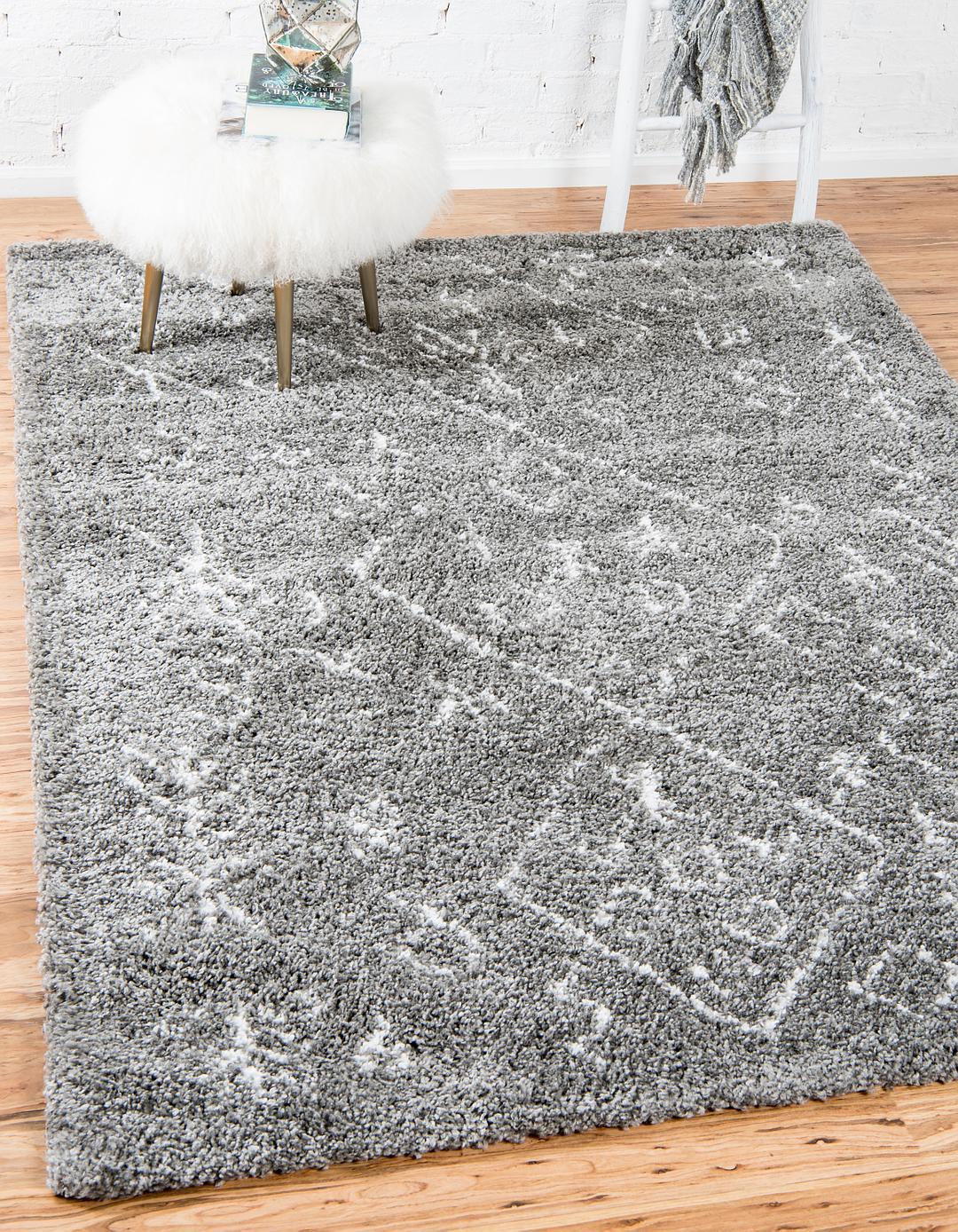 gray 9' x 12' marrakesh shag rug | area rugs | esalerugs
