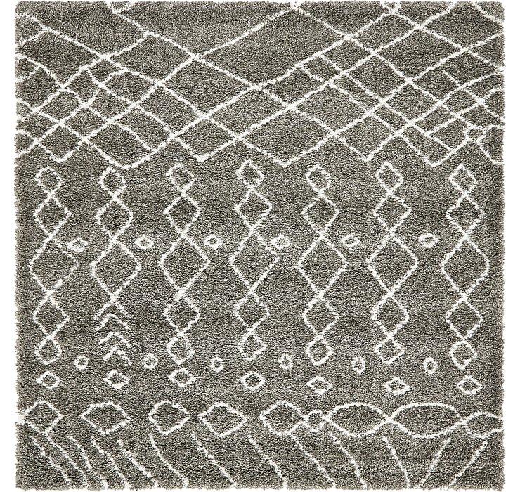 8' x 8' Morroccan Shag Square Rug