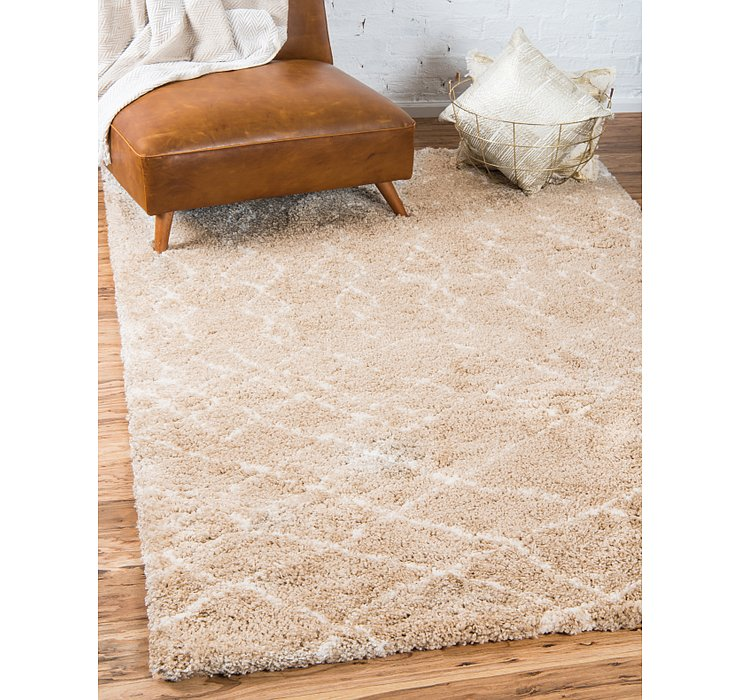 Taupe Morroccan Shag Rug