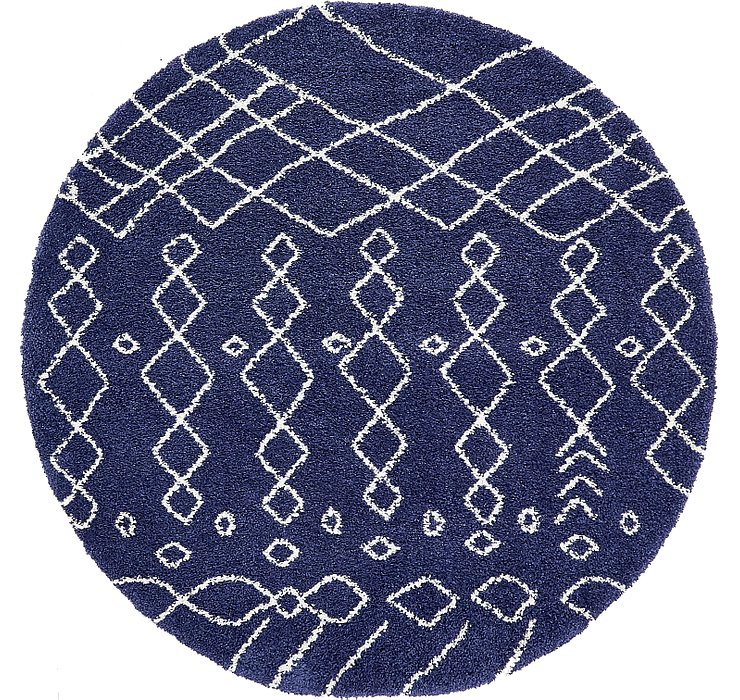 245cm x 245cm Marrakesh Shag Round Rug