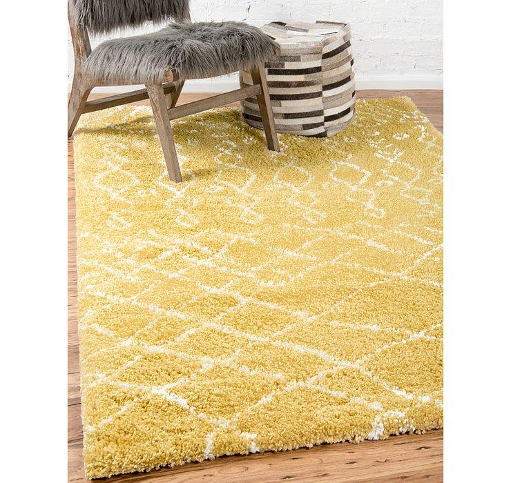 Yellow Morroccan Shag Rug