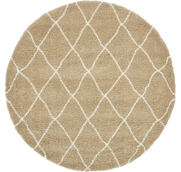 8' x 8' Morroccan Shag Round Rug