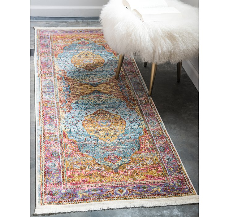 Light Blue Santiago Runner Rug
