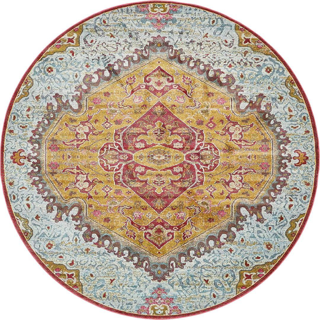 8u0027 4 x 8u0027 4 havana round rug