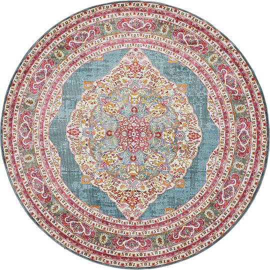 Red And Turquoise Rug Area Sophisticated Awesome Rugs In: Turquoise 255cm X 255cm Havana Round Rug