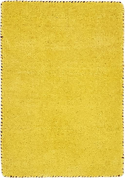 Yellow 1 4 X 2 Solid Gabbeh Rug Area Rugs Esalerugs