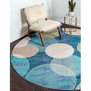 Unique Loom 8' x 8' Chromatic Round Rug