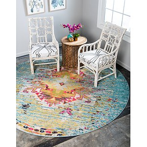 Unique Loom 6' x 6' Vita Round Rug