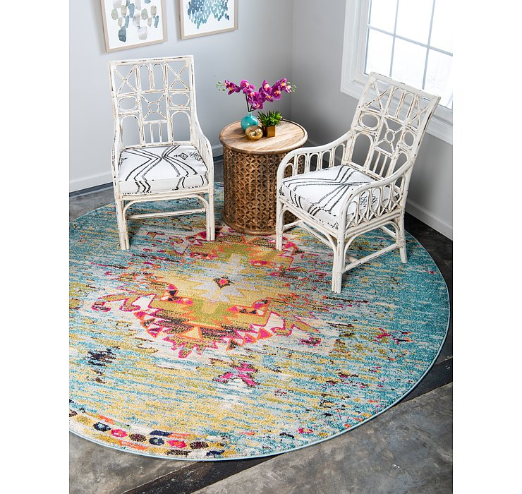 6' x 6' Carnevale Round Rug