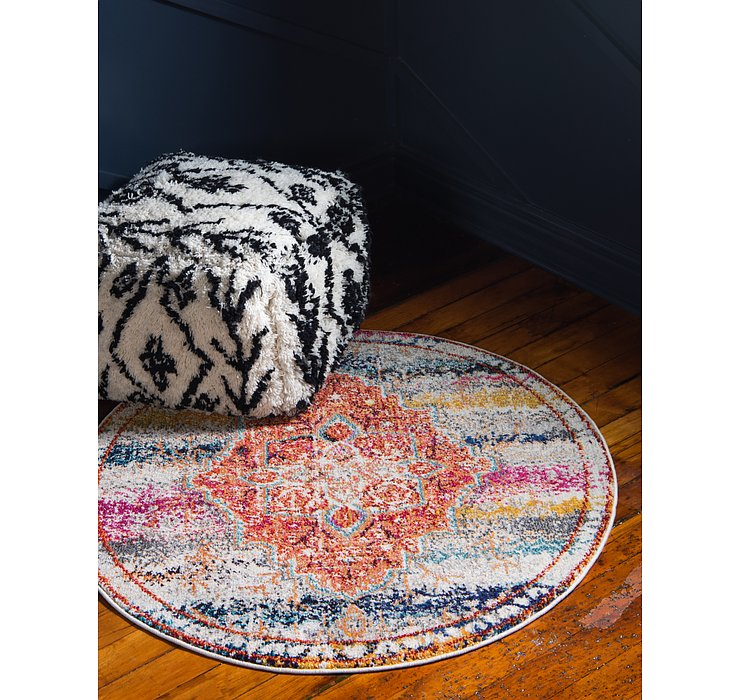 4' x 4' Carnevale Round Rug