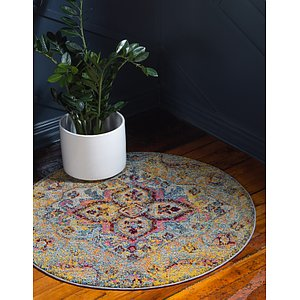 Unique Loom 8' x 8' Vita Round Rug
