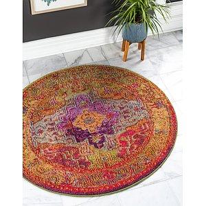 Unique Loom 4' x 4' Vita Round Rug