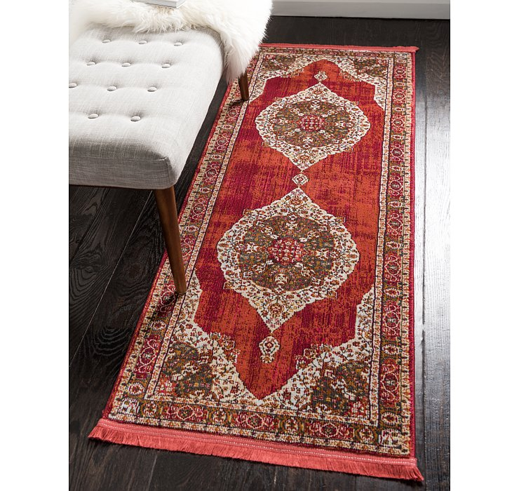 Red Santiago Runner Rug