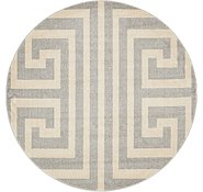 Link to 6' x 6' Greek Key Round Rug
