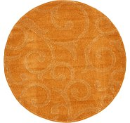 Link to 4' x 4' Floral Frieze Round Rug