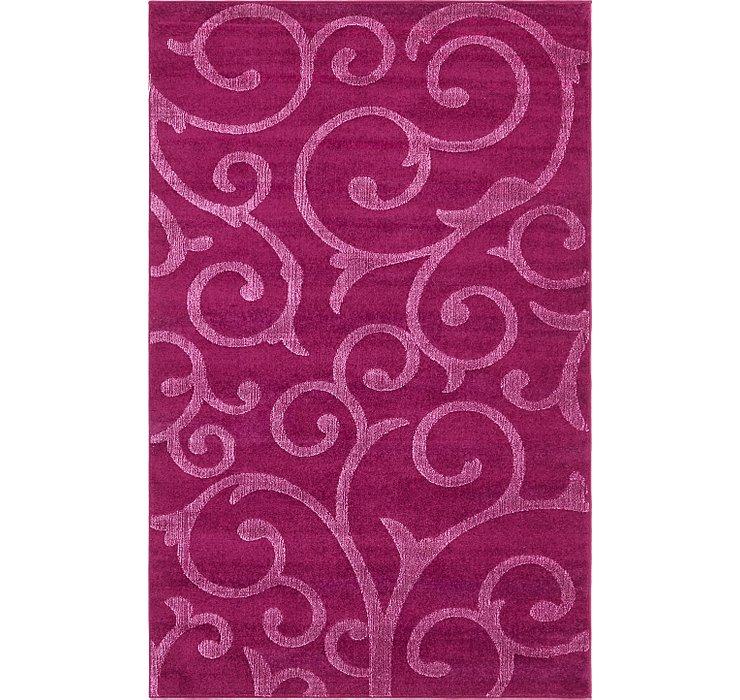 5' x 8' Floral Frieze Rug