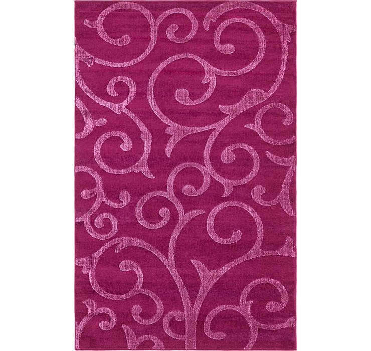 Violet Botanical Frieze Rug