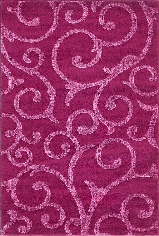 Violet 122cm X 183cm Floral Frieze Rug Area Rugs Au Rugs