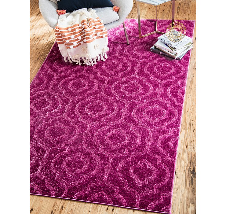Violet Lattice Frieze Rug