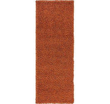 66x183 Solid Shag Rug