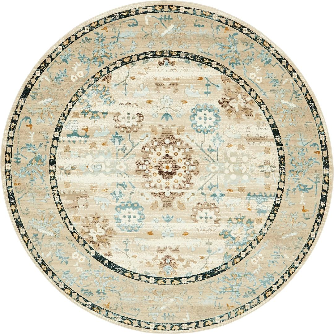 Beige 6 X 6 Montreal Round Rug Area Rugs Rugsca