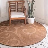 6' x 6' Outdoor Botanical Round Rug thumbnail