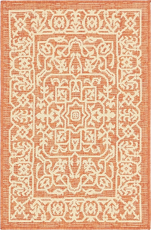 terracotta 2 39 x 3 39 outdoor botanical rug area rugs. Black Bedroom Furniture Sets. Home Design Ideas