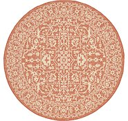 Link to Unique Loom 6' x 6' Outdoor Botanical Round Rug