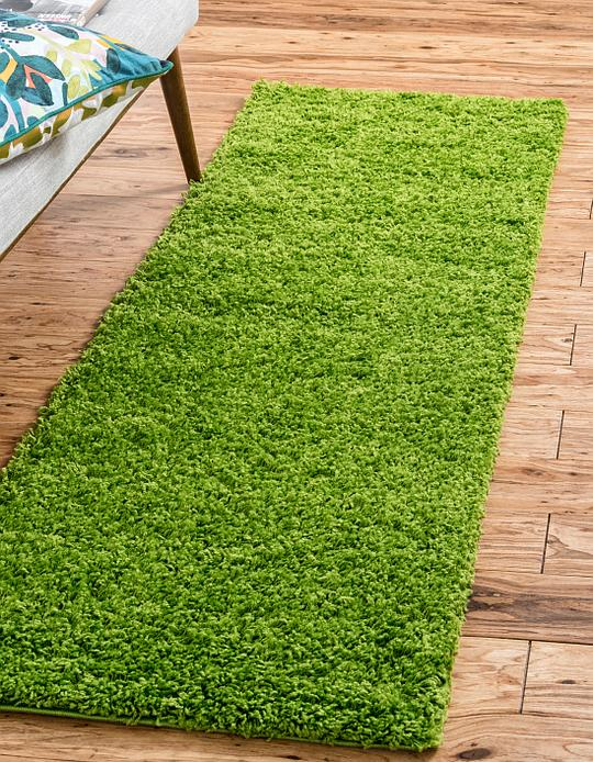 Grass Green 2 2 X 6 Solid Shag Runner Rug Area Rugs