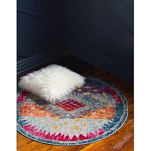 Unique Loom 8' x 8' Vita Round Rug