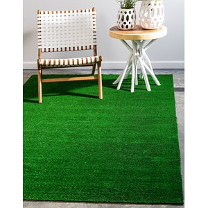 Unique Loom 5' x 8' Outdoor Grass Rug