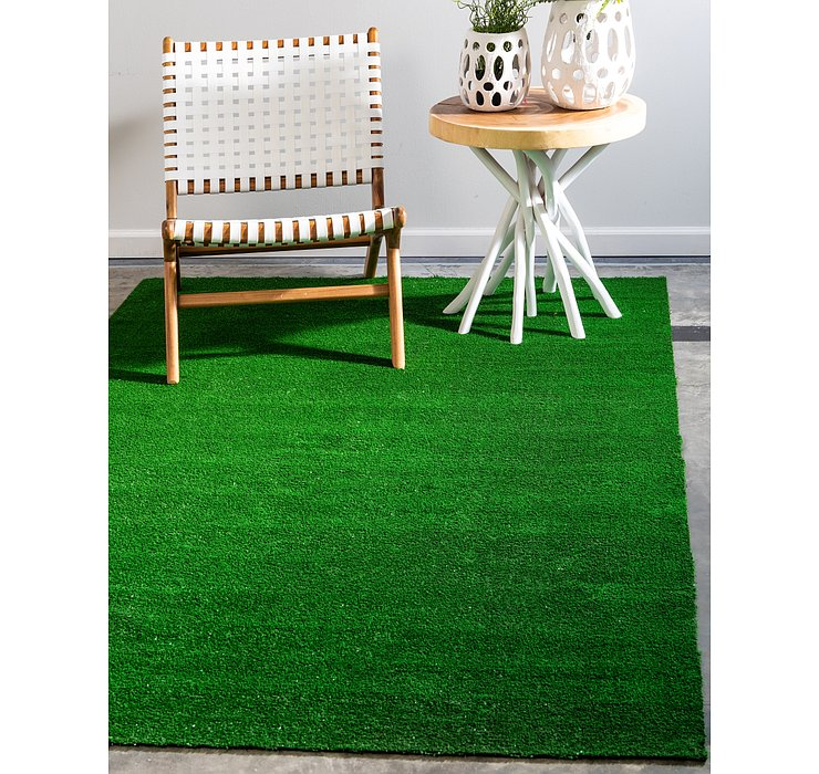 Green Outdoor Grass Rug