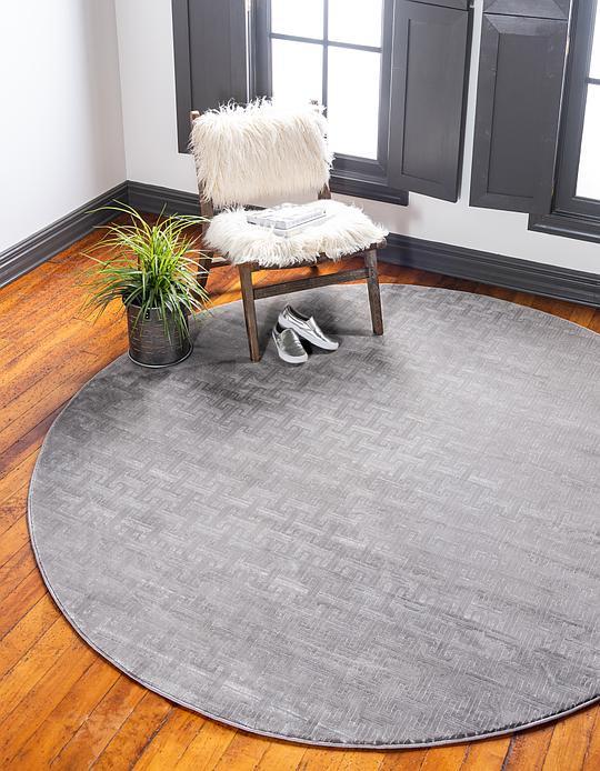 8 Round Grey Rug Rugs Decorating Ideas