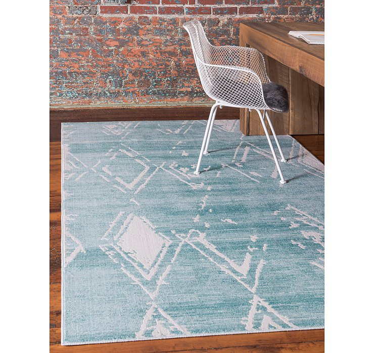 Jill Zarin Turquoise Uptown Collection Rug