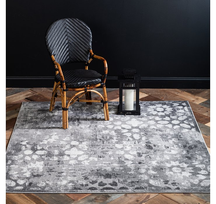 Dark Gray Monte Carlo Square Rug